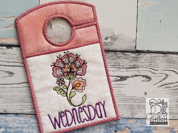 "Jacobean Wednesday - Closet Organizer - Fits a 5x7""Hoop - Machine Embroidery Designs"