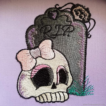 Skully RIP - Embroidery Designs