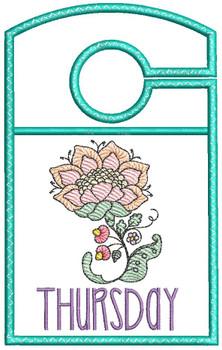 "Jacobean Thursday - Closet Organizer - Fits a 5x7""Hoop - Machine Embroidery Designs"
