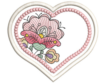 "Jacobean Heart Coaster - Fits a 4x4""  Hoop - Machine Embroidery Designs"