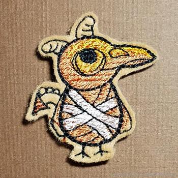 Skeleton Bird Feltie - Embroidery Designs