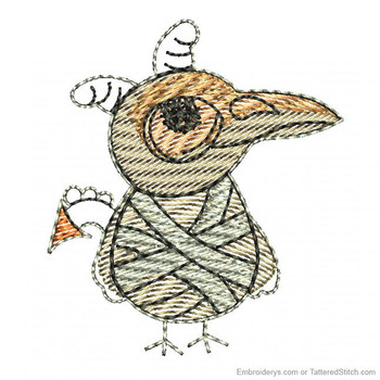 Skeleton Bird Feltie - Embroidery Designs