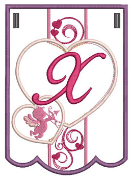 Valentine Bunting ABCs - X - Embroidery Designs