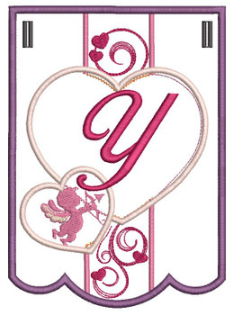 Valentine Bunting ABCs - Y - Embroidery Designs