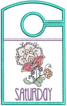 "Jacobean Saturday - Closet Organizer - Fits a 5x7""Hoop - Machine Embroidery Designs"