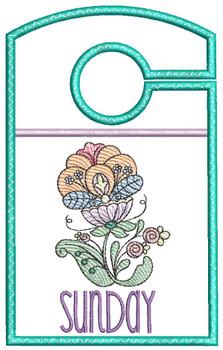 "Jacobean Sunday - Closet Organizer - Fits a 5x7""Hoop - Machine Embroidery Designs"