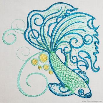 Inquisitive Betta Fish - Embroidery Designs