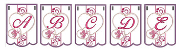 Valentine Bunting Bundle ABCs - A-Z - Embroidery Designs
