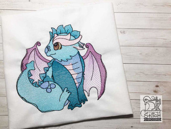 "Baby Dragon - Fits into a 4x4"", 5x7"" & 8x8"" Hoop - Instant Downloadable Machine Embroidery"