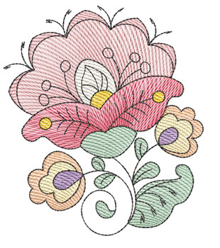 """Jacobean - 1 - Fits into a 4x4"""" & 5x7"""" Hoop - Instant Downloadable Machine Embroidery"""