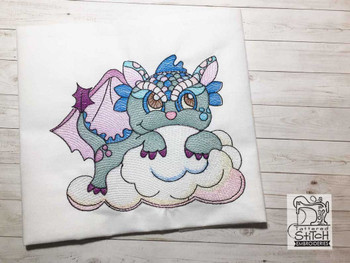 """Baby Dragon 2 - Fits into a 4x4"""", 5x7"""" & 8x8"""" Hoop - Instant Downloadable Machine Embroidery"""