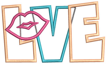 "Love Applique - Fits a 4x4"" & 5x7"" Hoop - Machine Embroidery Designs"