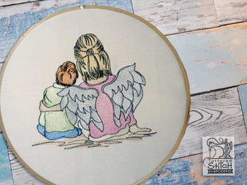 "Guardian Angel 2 - Fits into a 4x4"", 5x7"" & 8x8"" Hoop - Instant Downloadable Machine Embroidery"