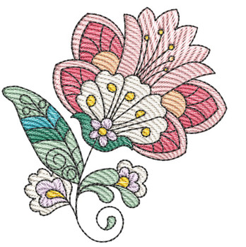 """Jacobean - 2 - Fits into a 4x4"""" & 5x7"""" Hoop - Instant Downloadable Machine Embroidery"""