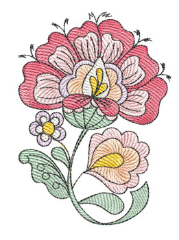 """Jacobean - 3 - Fits into a 4x4"""" & 5x7"""" Hoop - Instant Downloadable Machine Embroidery"""