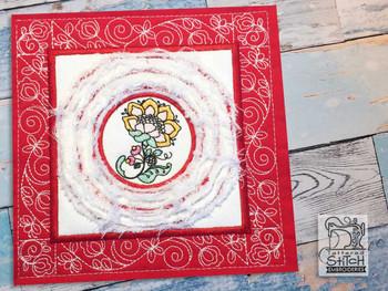 """Jacobean 4 Chenille QB -  Fits a   6x6"""", 7x7"""", 8x8"""" & 10x10""""  Hoop - Machine Embroidery Designs"""