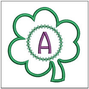 "Clover Applique ABCs - A - Fits a 4x4"" Hoop - Machine Embroidery Designs"