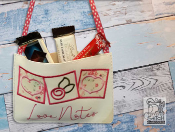 "Love Notes Gift Bag- Fits a 5x7"" & 6x10"" Hoop - Machine Embroidery Designs"