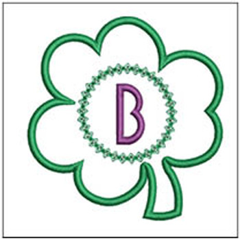 "Clover Applique ABCs - B - Fits a 4x4"" Hoop - Machine Embroidery Designs"