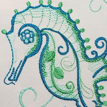 Wise & Beautiful Seahorse - Embroidery Designs