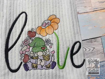 "Love Gnome -  Fits a   4x4"", 5x7"" Hoop - Machine Embroidery Designs"
