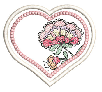 "Jacobean Heart Coaster 4 - Fits a 4x4""  Hoop - Machine Embroidery Designs"