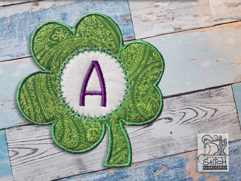 "Clover Applique ABCs - E - Fits a 4x4"" Hoop - Machine Embroidery Designs"