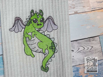 """Baby Dragon 4 - Fits into a 4x4"""", 5x7"""" & 6x10"""" Hoop - Instant Downloadable Machine Embroidery"""
