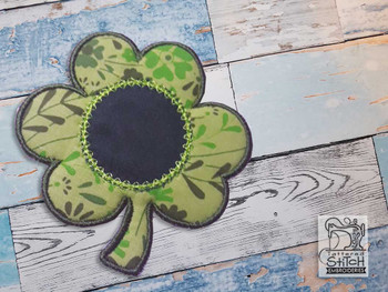 "Clover Coaster - Fits a 4x4"" & 5x7"" Hoop - Machine Embroidery Designs"
