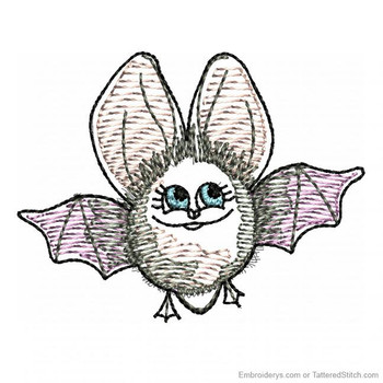 Adorable Bat Feltie - Embroidery Designs