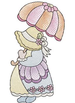 "Sunbonnet Sue 3 -  Fits a 4x4""  5x7"" & 6x10"" Hoop - Machine Embroidery Designs"