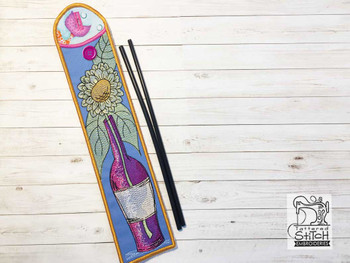"Sunflower Emery Board & Straw Holder - Fits a 5x7""6x11"" & 8x12"" Hoop - Machine Embroidery Designs"