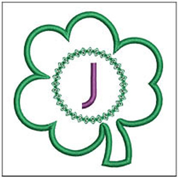 "Clover Applique ABCs - J - Fits a 4x4"" Hoop - Machine Embroidery Designs"