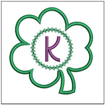 "Clover Applique ABCs - K - Fits a 4x4"" Hoop - Machine Embroidery Designs"