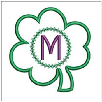 "Clover Applique ABCs - M - Fits a 4x4"" Hoop - Machine Embroidery Designs"