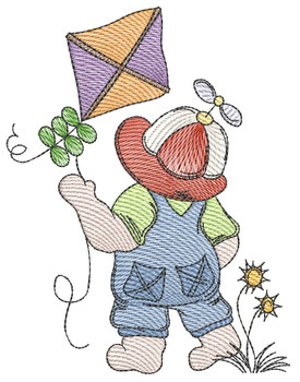 "Sunbonnet Sam 4 -  Fits a 4x4""  5x7"" & 6x10"" Hoop - Machine Embroidery Designs"