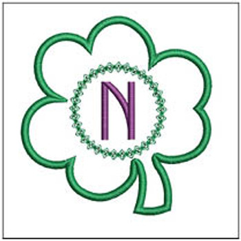 "Clover Applique ABCs - N - Fits a 4x4"" Hoop - Machine Embroidery Designs"