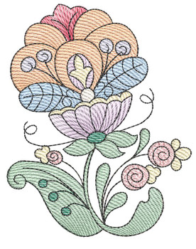"Jacobean - 7 - Fits into a 4x4"" & 5x7"" Hoop - Instant Downloadable Machine Embroidery"