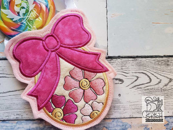 "Easter Egg Gift Bag- Fits a 5x7"" Hoop - Machine Embroidery Designs"