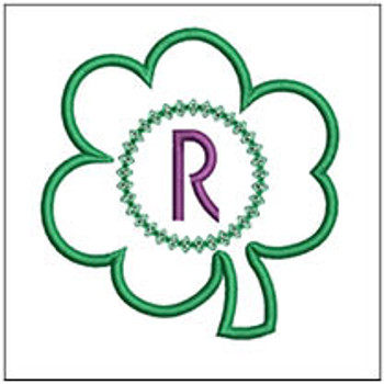"Clover Applique ABCs - R - Fits a 4x4"" Hoop - Machine Embroidery Designs"