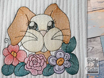 "Bunny With Teeth (No QB Background)  - Fits a 4x4"", 5x7 & 8x8"" Hoop - Machine Embroidery Designs"