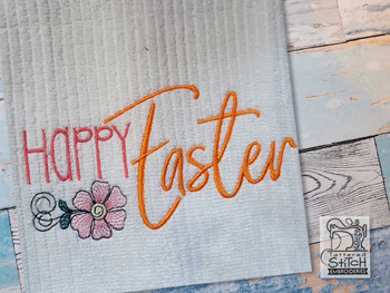 "Happy Easter  - Fits a 4x4"", 5x7 & 6x10"" Hoop - Machine Embroidery Designs"
