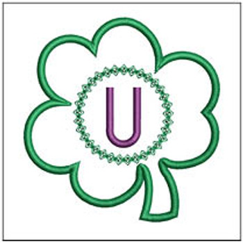 "Clover Applique ABCs - U - Fits a 4x4"" Hoop - Machine Embroidery Designs"