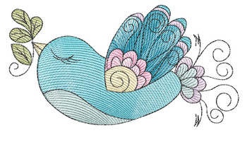 """Sweet Finch -  Fits a 4x4"""" & 5x7"""" Hoop - Machine Embroidery Designs"""
