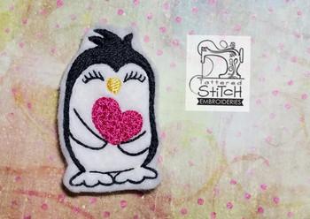 Love Penguin Feltie - Machine Embroidery Designs