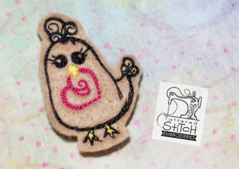 Love Chick Feltie - Machine Embroidery Designs