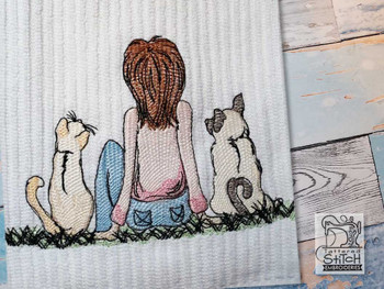 "A Girls Best Friends - Fits a  4x4"", 5x7"" & 6x10"" Hoop - Machine Embroidery Designs"