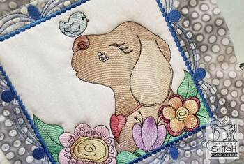 "Whimsical Dog Quilt Blocks Bundle - Fits a  4x4"", 5x5"", 6x6"", 7x7"", 8x8"" & 10x10""  Hoop - Machine Embroidery Designs"