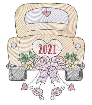 """Hitched 2021 - Fits a 4x4"""", 5x7"""", & 8x8"""""""" Hoop - Machine Embroidery Designs"""