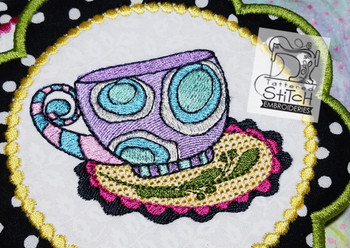 Whimsy Teacup 2 - Machine Embroidery Designs